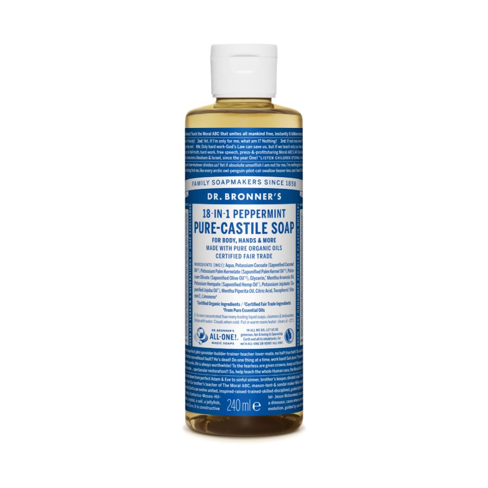 Mydło w płynie 18w1 Dr. Bronner's - miętowe - 240 ml