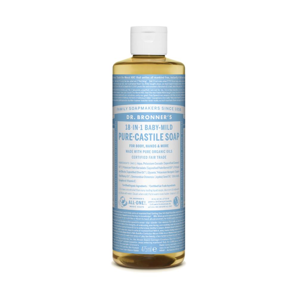 Mydło w płynie 18w1 Dr. Bronner's - bezzapachowe - Baby Mild - 475 ml