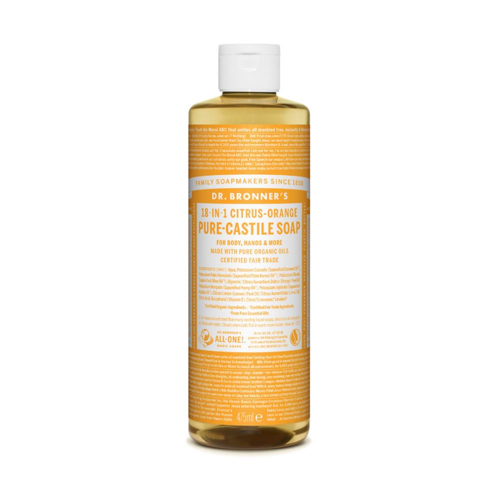 Mydło w płynie 18w1 Dr. Bronner's - cytrusowo-pomarańczowe - 475 ml