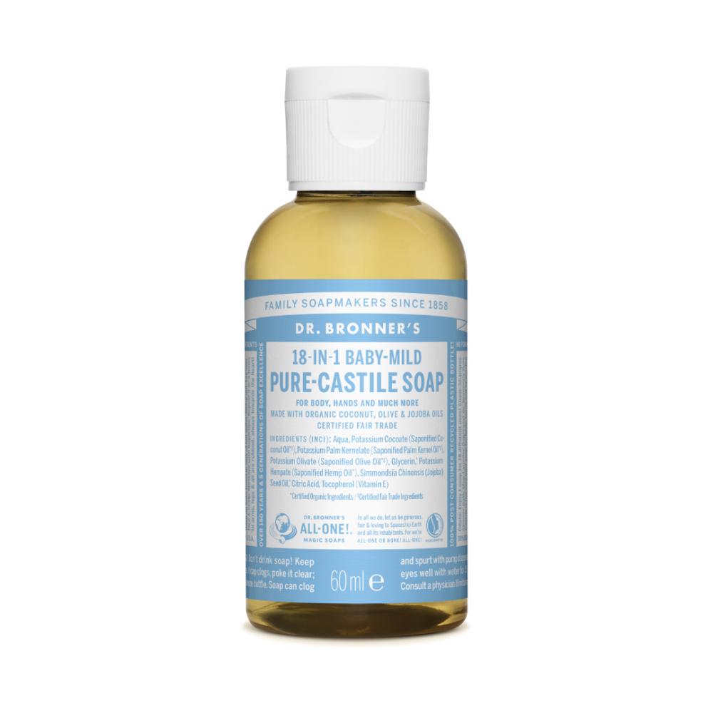Mydło w płynie 18w1 Dr. Bronner's - bezzapachowe - Baby Mild - 60 ml